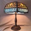 Antique Slag Glass Leaded Lamp