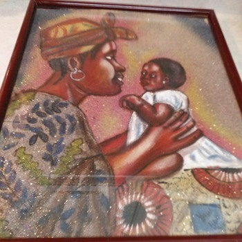AFRICAN SAND PAINTING - Fine Art