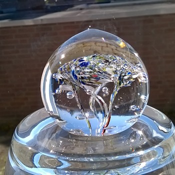 Slightly Blobby Lead Crystal Paperweight Thrift Shop Find 50 Cents - Art Glass