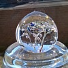 Slightly Blobby Lead Crystal Paperweight Thrift Shop Find 50 Cents