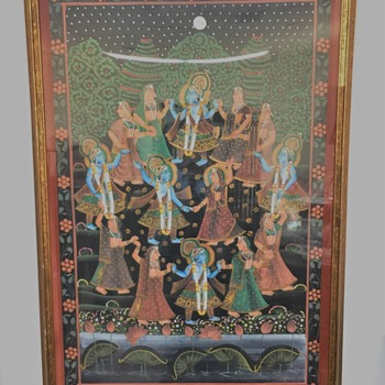 Is this some sort of Hindu Wedding/Celebration  painting?????