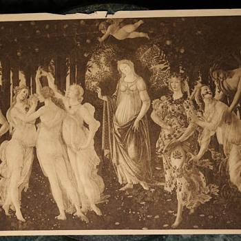Botticelli - Primavera - 19th Century Sepia Print - Fine Art