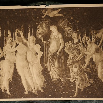 Botticelli - Primavera - 19th Century Sepia Print
