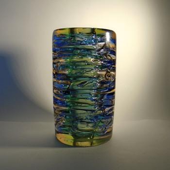 """Frantisek Vizner multicolored """"Whirlpool"""" lamp base -- Skrdlovice - Art Glass"""