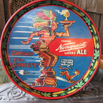 Dr. Suess Narragansett Beer Tray - Breweriana