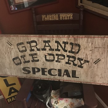 Tennessee Gold !!! 1950 Grand Ole Opry Sign. Tickel Bros sign - Signs