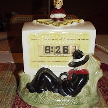 Tele-Vision (Pennwood) Organ Grinder Ceramic Numechron August 1949 - Clocks