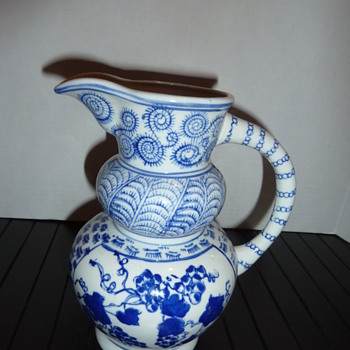 Weird Mystery Pitcher is it Flow Blue???? - China and Dinnerware