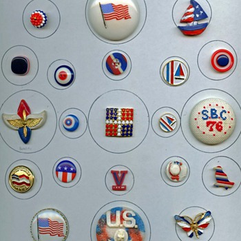 Happy belated 4th of July..BUTTONS - Sewing