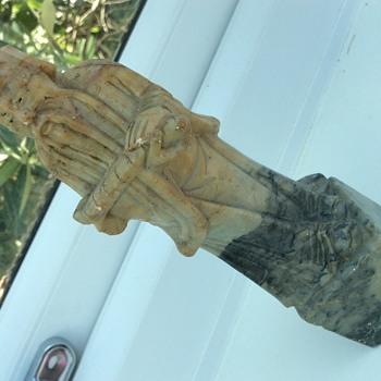 Asian marble stone man  - Asian
