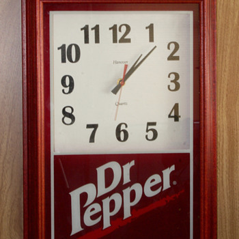 Dr. Pepper Advertising Clock - Clocks