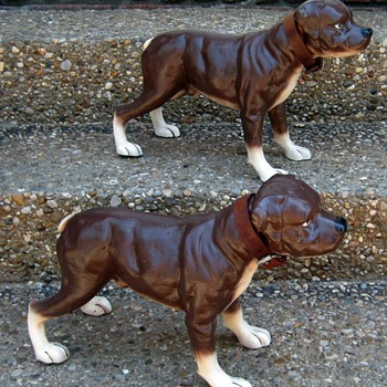 Cast Iron Staffordshire Bull Terriers - Animals