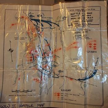 WORLD WAR 2 BATTLE OF LUPAO MAP - Paper