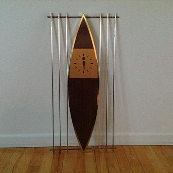 Mid Century Modern 8 Day Clock Haddon - Mid-Century Modern