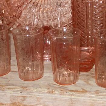MacBeth Evans American Sweetheart Tumblers Set of Four - Glassware
