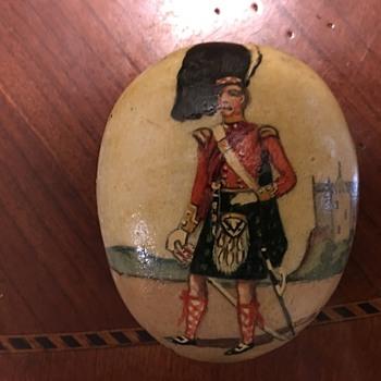 93rd Highlanders 1853 Painted Stone - Folk Art