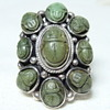 Arts and Crafts Scarab Ring