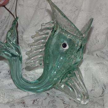 MURANO FISH VASE figurine - Art Glass