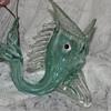 MURANO FISH VASE figurine