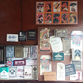 "matchbox collection 60's, 70's  with Dan Folgelberg. Nahville, LA, CO etc and then some of my own zips etc.  ""old TN""  - Tobacciana"
