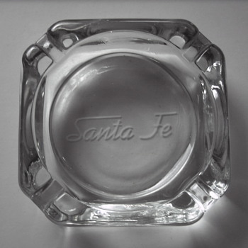 Two Santa Fe Railway Passenger Car Ashtrays - Railroadiana