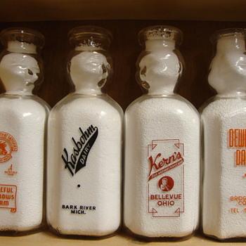 "Square ""Single Face"" Baby Top/Cop Milk Bottles...... - Bottles"