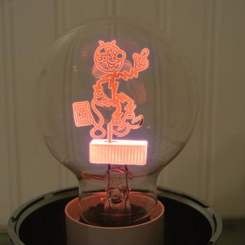 1940s Reddy Kilowatt light bulb. - Advertising