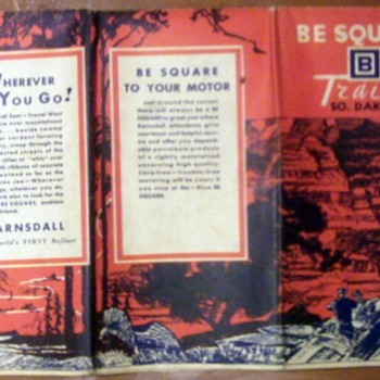 "Vintage ""Be Square"" Road Map"