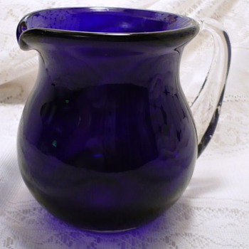 Please Help Identify This Cobalt Pitcher - Glassware