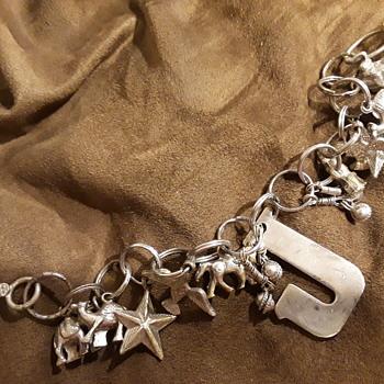 unique home-made (?) 'charm bracelet' - Costume Jewelry