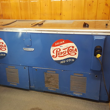 Pepsi cola large cooler - Advertising