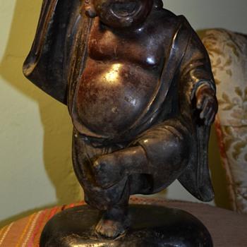 Buried Treasure! Large Dancing Bronze Buddha!