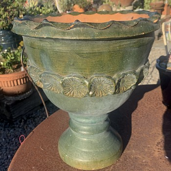 Pedestal Planter - Greenware from Mexico or Guatemala - Pottery