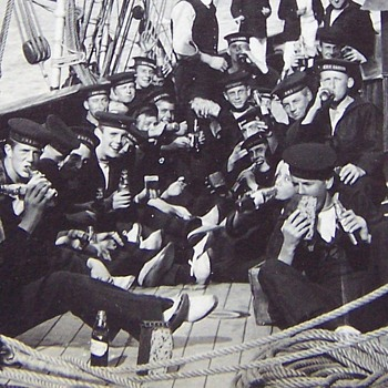H.M.S. Ganges c1903 Royal Navy Training Ship for recruits. - Photographs