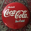 Coca Cola large Red Button 48""