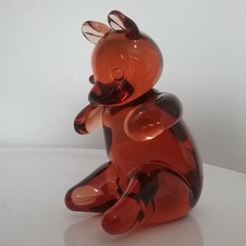Wedgwood Glass teddy bear  - Animals