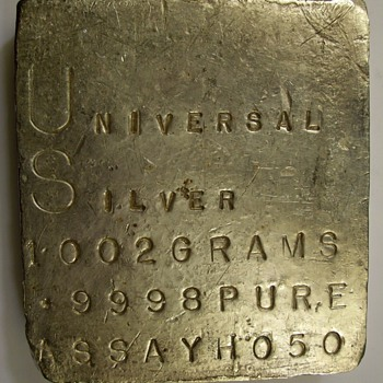 Universal Silver Kilo Slab 1002 Grams .9998 fine - Silver