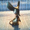 Cute Little Brass Mouse / Leonard Silver Mfg. Co. Korea /Circa 1960