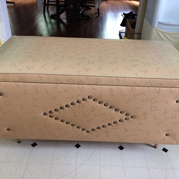 Vintage vinyl cedar chest Red Seal Honderlich Co - Furniture