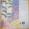 Yuzen Japanese Ancient Beauty Handkerchief