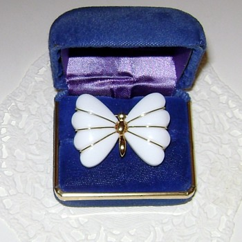 Trifari Butterfly Brooch - Costume Jewelry
