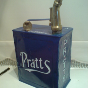 one of my 2 gallon petrol can with brass filler - Petroliana