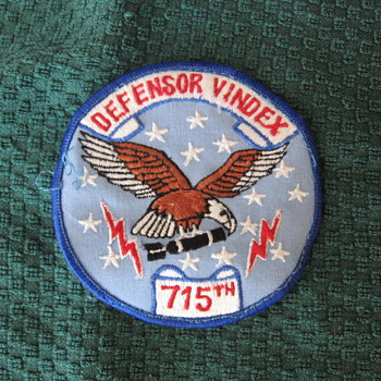 Found another Patch in the Biscuit tin DEFENSOR VINDEX 715th - Military and Wartime