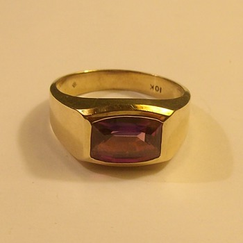 "More ""Vintage"" Male 10k Ring with Stone - Fine Jewelry"