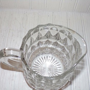 Help with unknown small milk pitcher - Glassware