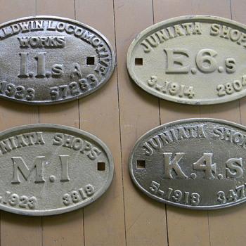 Railroad Locomotive Builder's Plates - Railroadiana