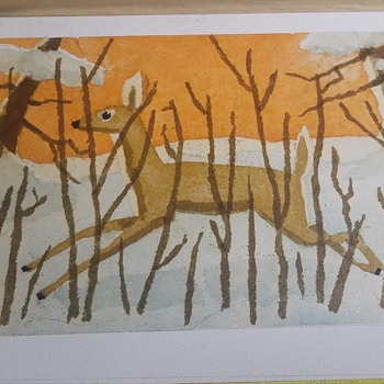 Deer Painting by ? - Asian
