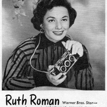 1951 - Ruth Roman for Realist Cameras - Advertisement - Advertising