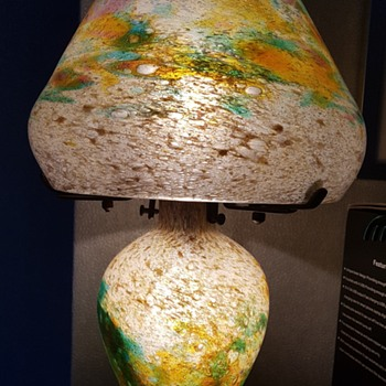 newest Monart mushroom lamp  - Art Glass