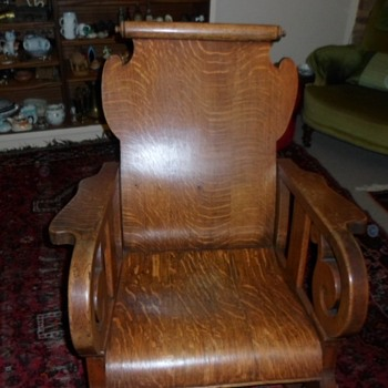 Solid Oak rocking chair [origin uinknown] - Furniture